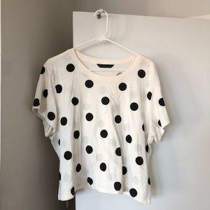 Abercrombie polka dot T-shirt, XL, worn once